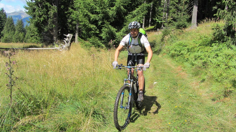 5. Tag: Einsame Hochmoorlandschaft am Platzer Jöchl auf dem Weg zum Gampenpass